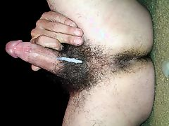 hairy ass and cum