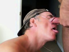 Terry Lavigne takes a facial