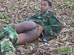 Young gay commando flashes alfresco