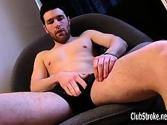 Horny Straight Guy Tommy Masturbating