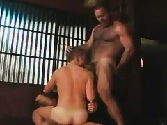 Two Daddy's fuck a boy