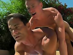 Twink video Daddy Poolside Prick Loving