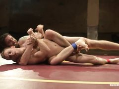 gay wresting with some dirty tricks