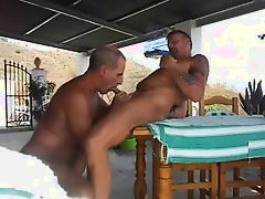 daddy buggers his friend outdoor