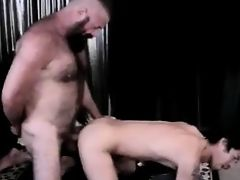 Hairy bearded monster daddy punishes boy