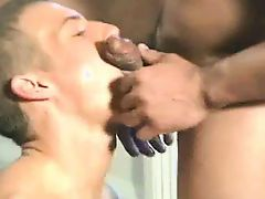 Bodybuilder's eager twink slave