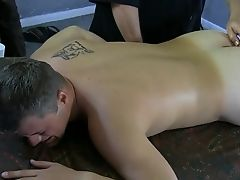 Gay massage and deep blowjob