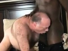 Daddybear power bottom with big black cock