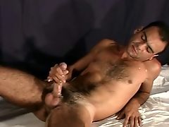 Hot hairy macho showing off