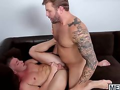 Horny Colby fucks a load of hot cum out of Scotts dick