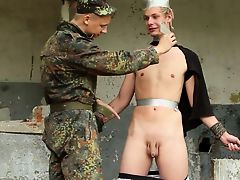 BDSM chained boy is   beaten, dominated cute twinks