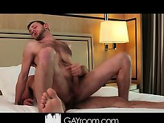 Hot daddy gives an oily, erotic massage and fucks his