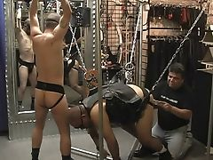 Threesome with hardcore gay ass fuckers