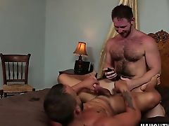 Hairy jock flip flop with swap