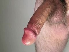 slow stroking to an edge throbbing cum drip, jack it again for the big cum