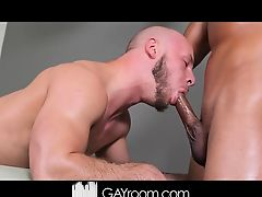 Devon Felix gives Bjorn Manning an oily massage and