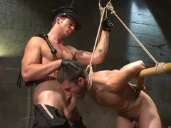 Suck My Dick To Get Released From Rope Bondage