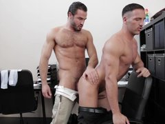 Office Buddies Engage In A Hot Fucking