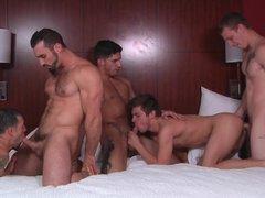 One Heated Gays Orgy
