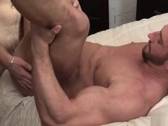 Gay hunks Marko Lebeau and Christian Power hard fuck