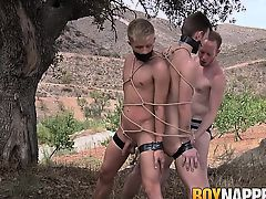 Reece and Chris have already been prepared, stripped naked