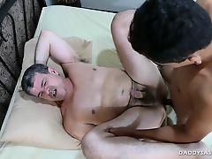 Daddy Bareback Fucks Str8 Asian Boy JR