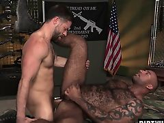 Muscle bear interracial and cumshot