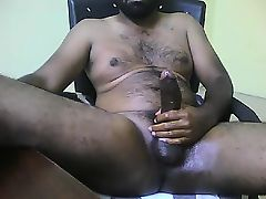 Black gays pound the ass and then jerk off together