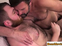 Redbear assfingered while jerking by chub guy
