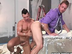 HotHouse Sexy Painter Punishes Rude Client in Ass