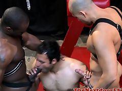 Black hunk spitroasting submissive latino