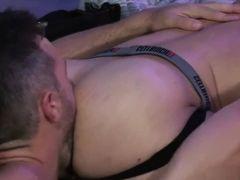 Sexy gays Alex Mecum, Eddy Ceetee and Riley Mitchel fuck in group