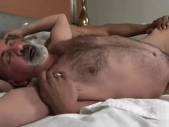 Black muscle gay hard drills old hairy man