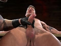 Colby Jansen,Sean Maygers in Newcomer Sean Maygers Gets Bound and Fucked By Huge Stud Colby Jansen - BoundGods