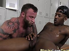 Ebony gay amateur spunks
