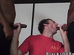 Lusty white guy returns for more black cocks