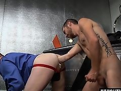 Hot jock fetish and facial