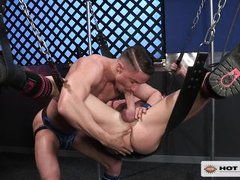chained and blindfolded by hot hunk