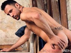 Sexy gay Juan Perez caresses his asshole