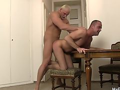 Brutal gay boyfriend fucking him from behind