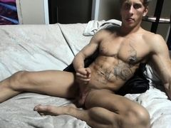 California hunk jerking off and cumming (part 2)