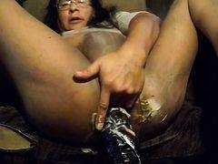 anal masturbation&anal orgasm in pantyhose
