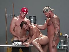 RagingStallion Brazilian Cutie Fucked By 2 American Hunks