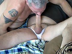 daddy sucking cock