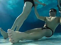 fun underwater in a swimming