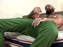 Hairy Bear Jerking Off