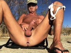 string which cuts into a daddy's ass hole (horny smell)