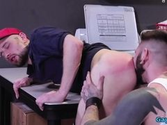 Tattoo gay anal fetish and cumshot