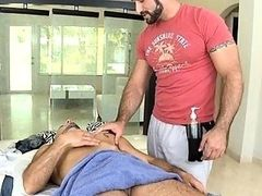 Sexy gay lad is being spooned during sexy massage