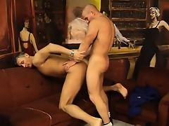 Attractive young thug gets turned on and starts sucking on a big cock